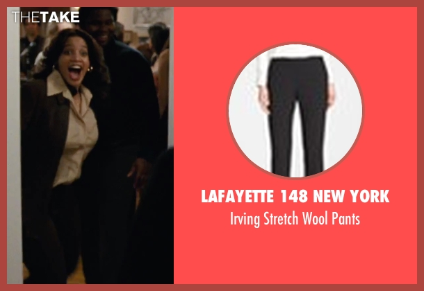 Lafayette 148 New York black pants from Joy seen with Dascha Polanco (Jackie)