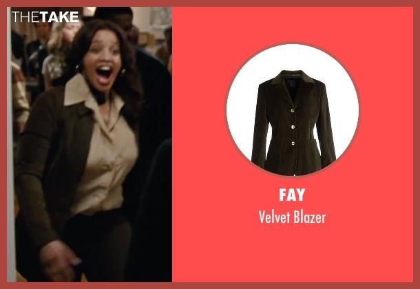 Fay green blazer from Joy seen with Dascha Polanco (Jackie)