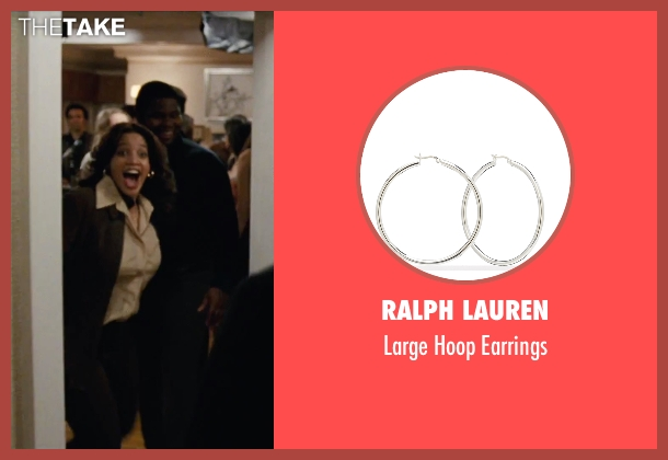 Ralph Lauren silver earrings from Joy seen with Dascha Polanco (Jackie)