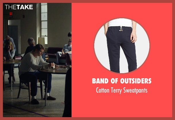Band of Outsiders blue sweatpants from Before I Wake seen with Dash Mihok (Whelan)