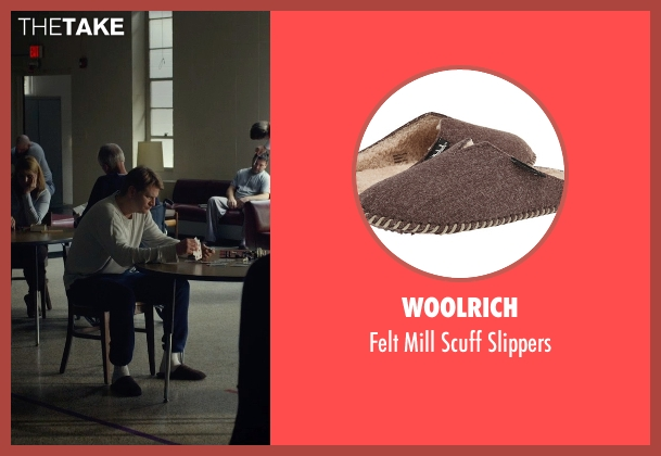 Woolrich brown slippers from Before I Wake seen with Dash Mihok (Whelan)
