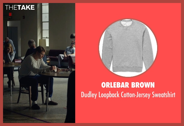 Orlebar Brown gray sweatshirt from Before I Wake seen with Dash Mihok (Whelan)