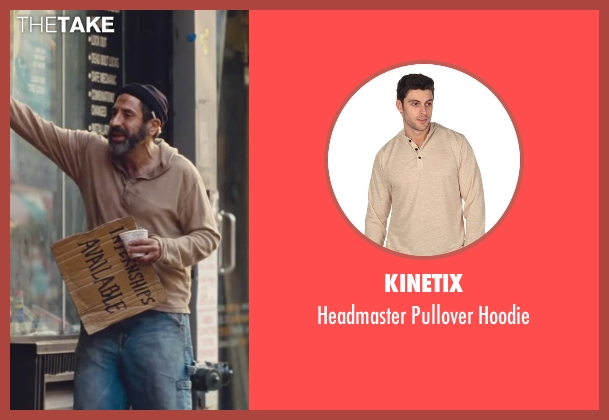 Kinetix beige hoodie from Trainwreck seen with Dave Attell (Noam)