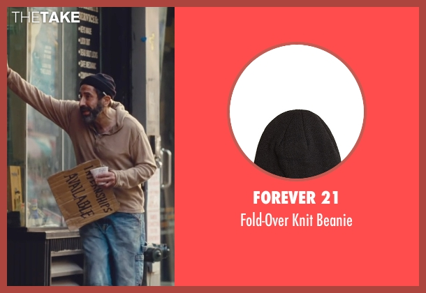 Forever 21 black beanie from Trainwreck seen with Dave Attell (Noam)