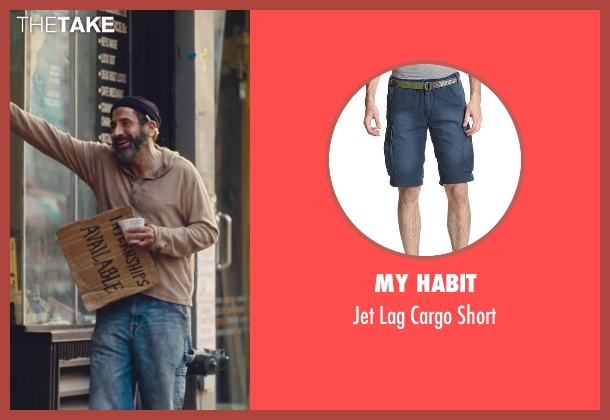 My Habit blue short from Trainwreck seen with Dave Attell (Noam)