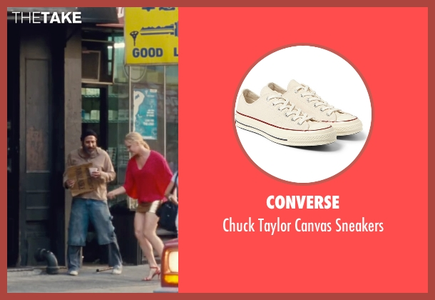 Converse white sneakers from Trainwreck seen with Dave Attell (Noam)