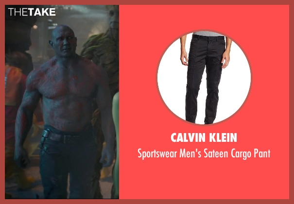 Calvin Klein black pant from Guardians of the Galaxy seen with Dave Bautista (Drax the Destroyer)