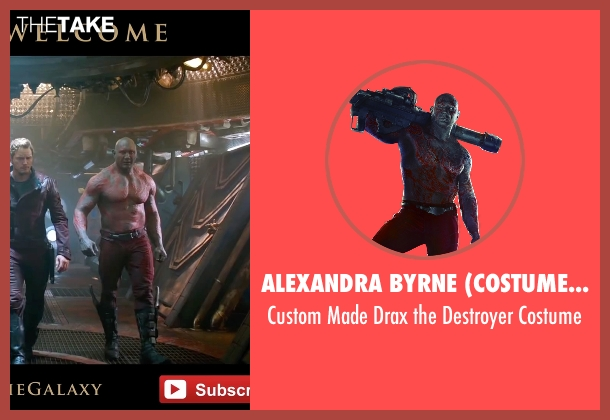 Alexandra Byrne (Costume Designer) costume from Guardians of the Galaxy seen with Dave Bautista (Drax the Destroyer)