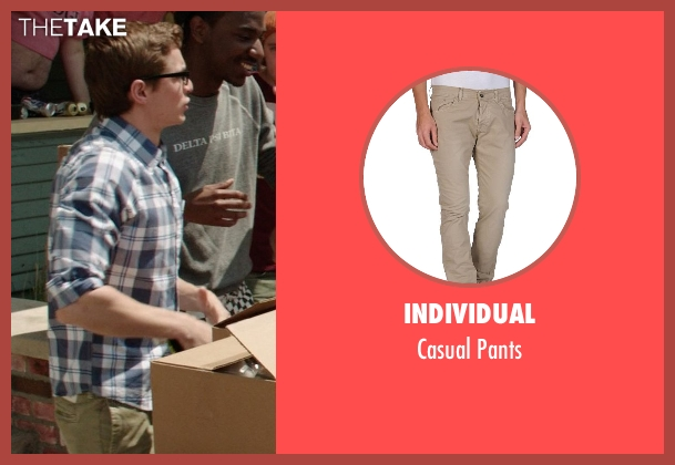 Individual beige pants from Neighbors seen with Dave Franco (Pete)