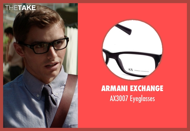 Armani Exchange black eyeglasses from Neighbors seen with Dave Franco (Pete)