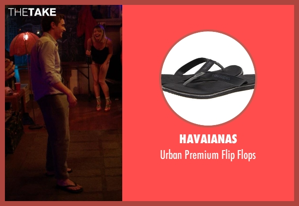 Havaianas black flops from Neighbors seen with Dave Franco (Pete)