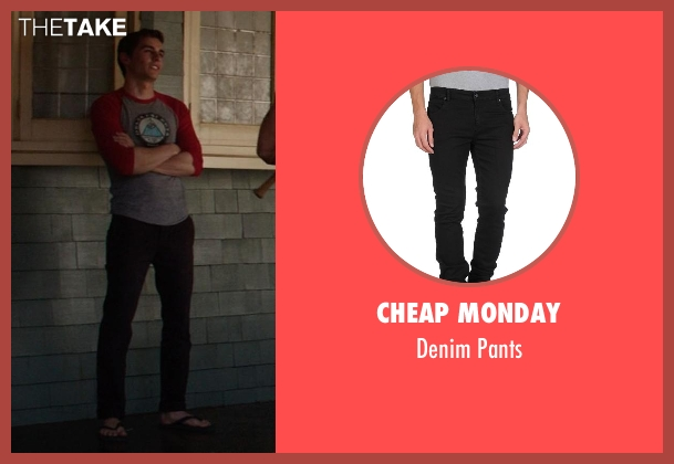 Cheap Monday black pants from Neighbors seen with Dave Franco (Pete)