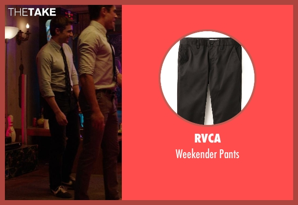 RVCA black pants from Neighbors seen with Dave Franco (Pete)