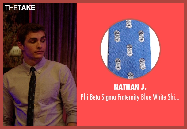 Nathan J. blue necktie from Neighbors seen with Dave Franco (Pete)
