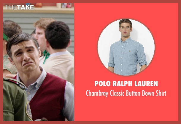 Polo Ralph Lauren blue shirt from Neighbors seen with Dave Franco (Pete)