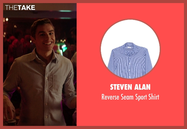 Steven Alan blue shirt from Neighbors seen with Dave Franco (Pete)