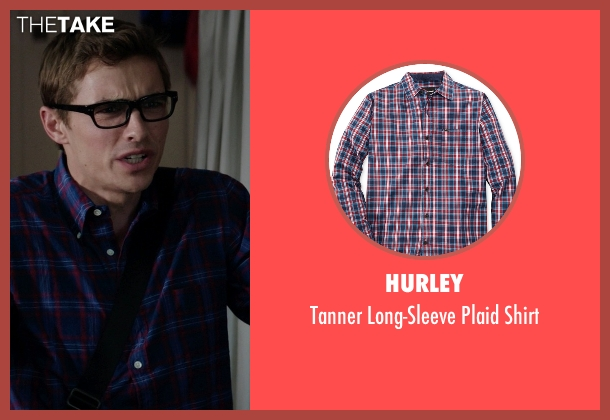 Hurley blue shirt from Neighbors seen with Dave Franco (Pete)