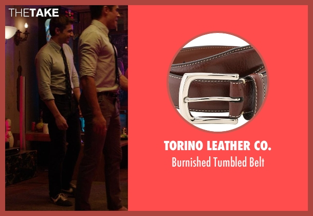 Torino Leather Co. brown belt from Neighbors seen with Dave Franco (Pete)