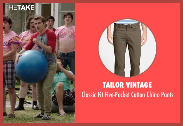 Tailor Vintage brown pants from Neighbors seen with Dave Franco (Pete)