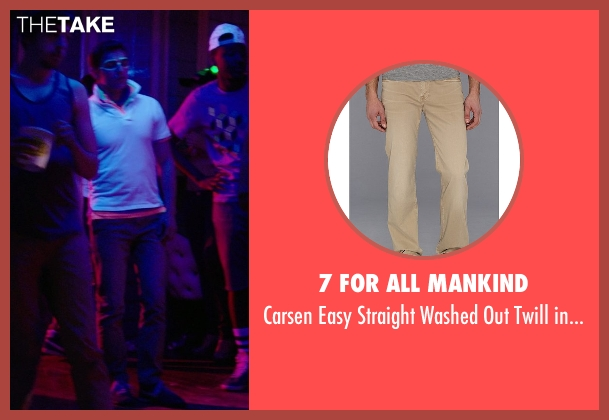 7 For All Mankind brown pants from Neighbors seen with Dave Franco (Pete)