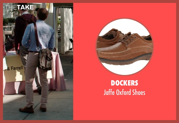 Dockers brown shoes from Neighbors seen with Dave Franco (Pete)