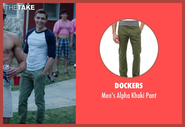 Dockers green pant from Neighbors seen with Dave Franco (Pete)