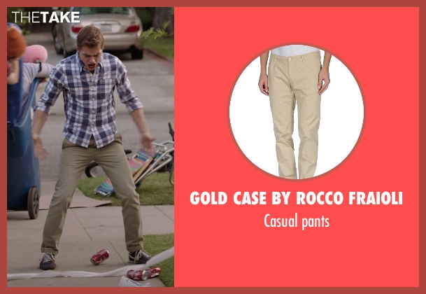 Gold Case By Rocco Fraioli pants from Neighbors seen with Dave Franco (Pete)
