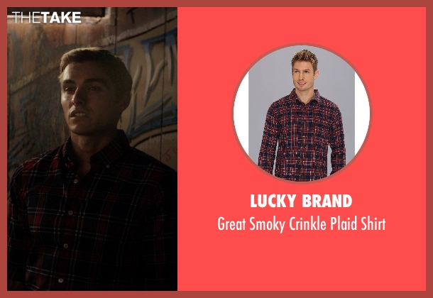 Lucky Brand red shirt from Neighbors seen with Dave Franco (Pete)