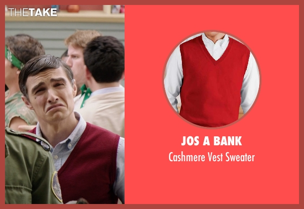 Jos A Bank red sweater from Neighbors seen with Dave Franco (Pete)