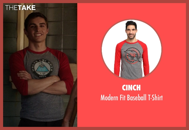 Cinch red t-shirt from Neighbors seen with Dave Franco (Pete)
