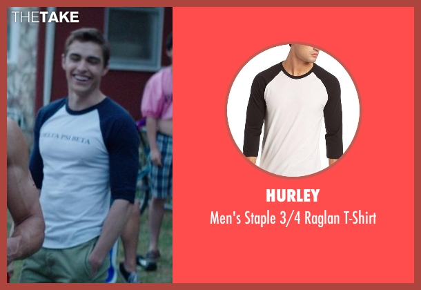 Hurley white t-shirt from Neighbors seen with Dave Franco (Pete)