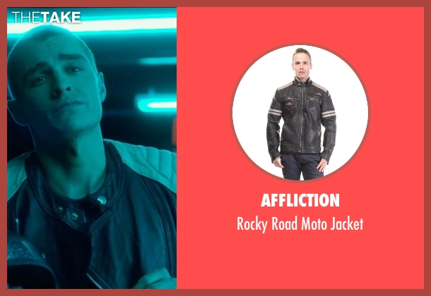 Affliction  black jacket from Nerve seen with Dave Franco (Ian)