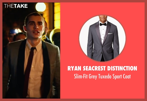 Ryan Seacrest Distinction gray coat from Nerve seen with Dave Franco (Ian)