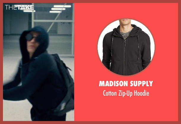 Madison Supply black hoodie from Now You See Me 2 seen with Dave Franco (Jack Wilder)