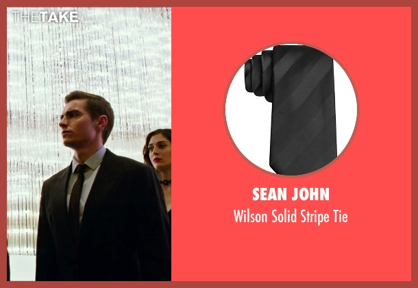 Sean John black tie from Now You See Me 2 seen with Dave Franco (Jack Wilder)