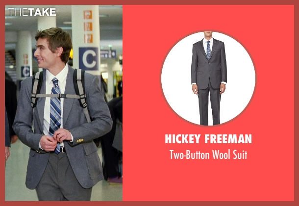Hickey Freeman gray suit from Unfinished Business seen with Dave Franco (Mike Pancake)