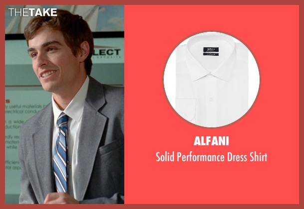 Alfani white shirt from Unfinished Business seen with Dave Franco (Mike Pancake)
