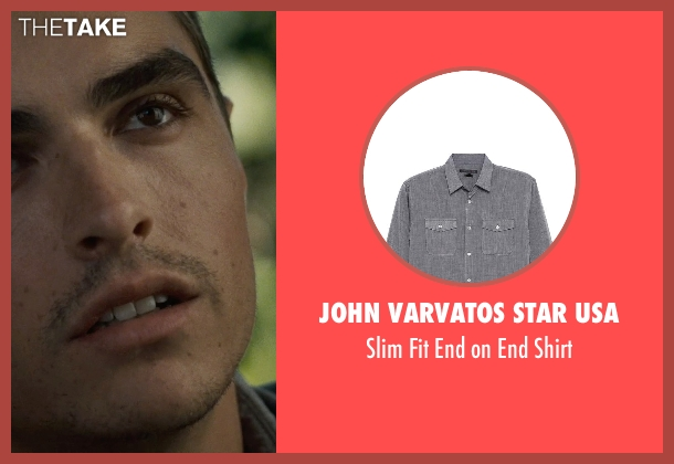 John Varvatos Star USA gray shirt from Warm Bodies seen with Dave Franco (Perry)