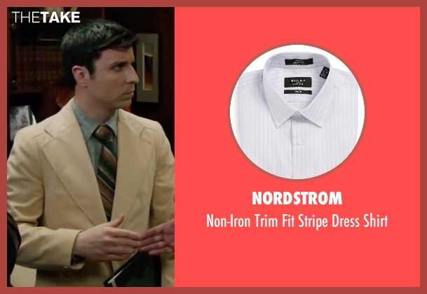 Nordstrom gray shirt from Anchorman 2: The Legend Continues seen with Dave Pileggi (Linda's Assistant)