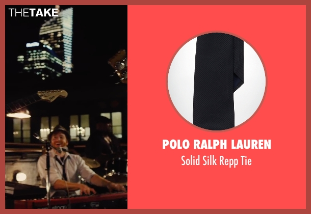 Polo Ralph Lauren black tie from Begin Again seen with David Abeles (Glen)