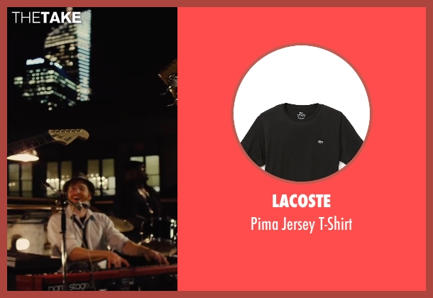 Lacoste black t-shirt from Begin Again seen with David Abeles (Glen)