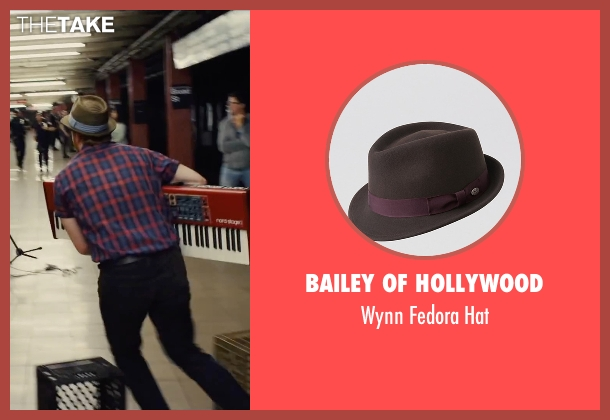 Bailey of Hollywood brown hat from Begin Again seen with David Abeles (Glen)