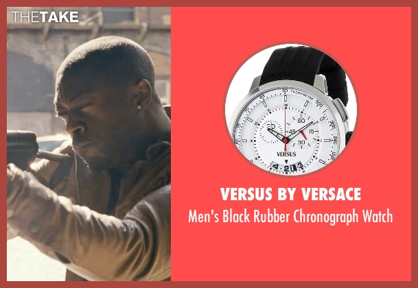 Versus by Versace black watch from Fast & Furious 6 seen with David Ajala (Ivory)