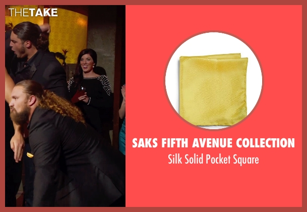 Saks Fifth Avenue Collection yellow square from Pitch Perfect 2 seen with David Bakhtiari (Football Player)