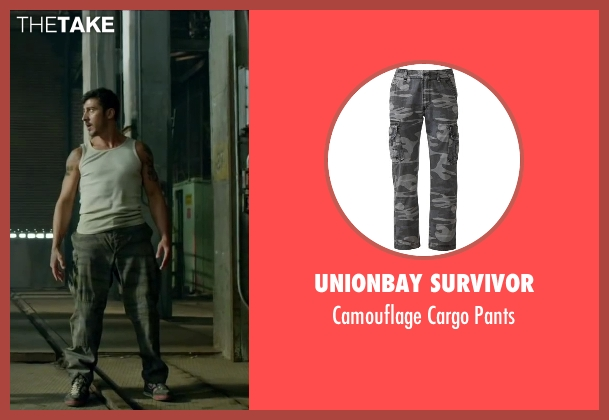 Unionbay Survivor pants from Brick Mansions seen with David Belle (Lino)