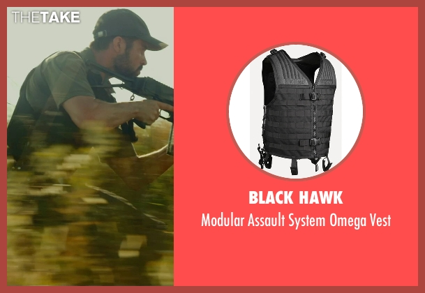 Black Hawk vest from The Gunman seen with David Blakeley (Agent Weston)