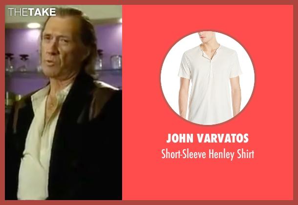 John Varvatos white shirt from Kill Bill: Vol. 2 seen with David Carradine (Bill)
