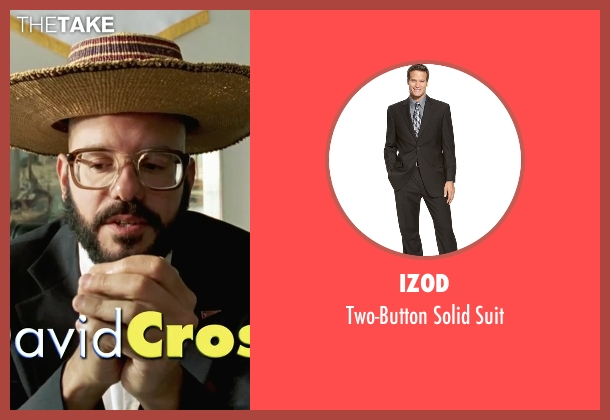 Izod black suit from She's The Man seen with David Cross (Gold)