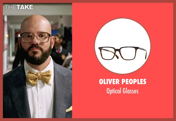 Oliver Peoples brown glasses from She's The Man seen with David Cross (Gold)