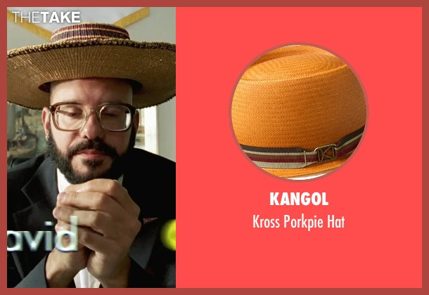 Kangol brown hat from She's The Man seen with David Cross (Gold)